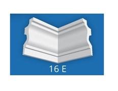 Угловой элемент Лагом Формат 16Е для потолочного плинтуса 07016E , внутренний, экструзионный, белый