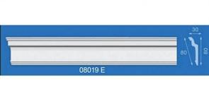 Плинтус потолочный экструзионный Лагом Формат 08019Е, 80x30ммx2м, полистирол, белый