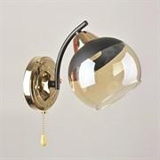 Светильник настенный/бра 7299/1W, высота 230мм, 1х40W, E27, FGD+BK золото/черный, XLD21