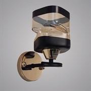 Светильник настенный/бра 7464/1, диаметр 160мм, высота 180мм, 1х40W E27, FG+BK золото/черный