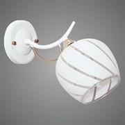 Светильник настенный/бра A2968/1W, высота 180мм, 1x40W E27, WT+FGD белый/золото, QH19