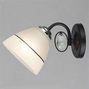 Светильник настенный/бра C1393/1W, высота 160мм, 1х60W, E27, BK+CR черный/хром, QH20