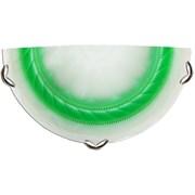 Светильник настенный/бра Дюна Орхидея 2251, полукруг 300x150мм, 1х60W, E27, зеленый/хром