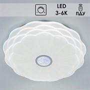 Светильник потолочный GLX-20809 WT Clear LED, диаметр 500мм, 2x48W, 3000-6000K, ПДУ диммер, LCY20