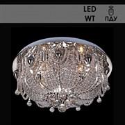 Люстра подвесная LED-встроенная 5272/400, 400x210мм, 4х40W, E14, LED-WT ПДУ, SDA18, CR хром