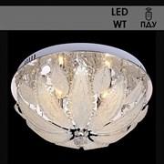 Люстра подвесная LED-встроенная 5279/400, 400x210мм, 4х40W, E14, LED-WT ПДУ, CR хром, ЛГР16