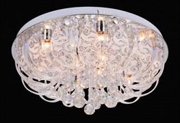 Люстра подвесная LED-встроенная 5763/500, диаметр 500мм, 5х40W, E14, LED-WT ПДУ, CR хром, SDA20