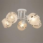 Люстра подвесная 5-рожковая А3400/5, диаметр 580мм, 5х60W, E27, AB+WT белый