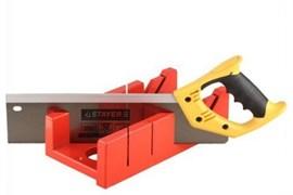 Ножовка STAYER для стусла, 350мм, усиленный обушок, закалённый заточенный зуб 2мм