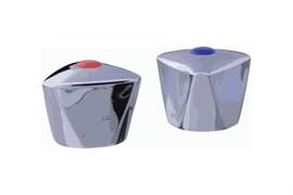 Комплект маховиков для смесителя TERMA №20223 Люсия, под кран-буксу с 24 шлицами, диаметр штока 8мм, в комплекте пара, пластиковый
