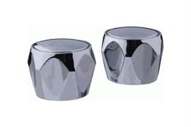 Комплект маховиков для смесителя TERMA №20224 Глобо, под кран-буксу с 24 шлицами, диаметр штока 8мм, в комплекте пара, пластиковый