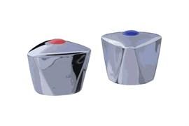 Комплект маховиков для смесителя TERMA №20230 Люсия, под кран-буксу квадрат, размер штока 7х7мм, в комплекте пара, пластиковый