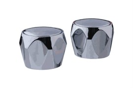 Комплект маховиков для смесителя TERMA №20231 Глобо, под кран-буксу квадрат, размер штока 7х7мм, в комплекте пара, пластиковый