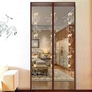 Штора/сетка москитная на дверь Dekotex IMAGE XH-02, 100x210см, на магнитах, коричневая BROWN