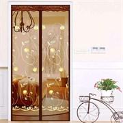 Штора/сетка москитная на дверь Dekotex IMAGE XH-04, 100x210см, на магнитах, коричневая BROWN