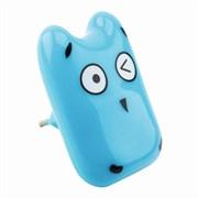 Светильник-ночник светодиодный LE LED NL-855 Кроха, 0.6W, пластиковый, синий