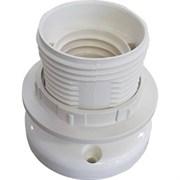 Патрон накладной Ecola, E27, прямой, с кольцом, AB7DPWEAY белый