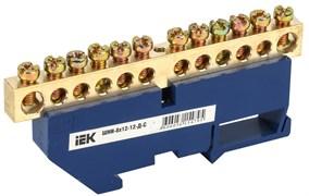 Шина нулевая ШНИ 8х12-12-Д-С ИЭК YNN10-812-12D-K07, на DIN-изоляторе