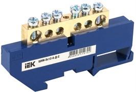 Шина нулевая ШНИ 8х12-6-Д-С ИЭК YNN10-812-6D-K07, на DIN-изоляторе