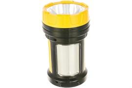 Фонарь-светильник Космос прожектор 2005W_Ex, аккумуляторный 4V2Ah, LED 5W 300lm +10W 380lm), 3 режима, желтый, пластиковый, с зарядным устройством