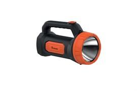 Фонарь-светильник Космос прожектор Accu9103W LED, аккумуляторный 4V 1.2Ah, 3W, 150lm, 2 режима, черный/оранжевый, зарядное устройство