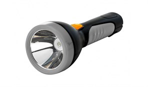 Фонарь Космос 7005 LED, светодиодный 5W, 250lm, ручной, черный/серый