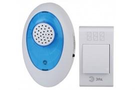 Звонок беспроводной А01 ЭРА Б0019873, аналоговый, накладной, белый/голубой