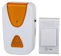 Звонок беспроводной А02 ЭРА Б0019874, аналоговый, накладной, бело-оранжевый