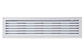 Решетка вентиляционная радиаторная EVENT Э4613Р, 460х123мм, с регулировкой живого сечения, переточная, пластиковая, белая