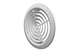 Решетка вентиляционная EVENT ПКС170, диаметр 170мм, круглая, без фланца, пластиковая, белая, наклонные жалюзи