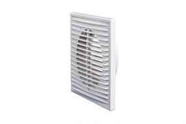 Решетка вентиляционная ERA 2121П12Ф, с фланцем диаметром 120мм, 210х210мм, пластиковая, белая, прямые жалюзи