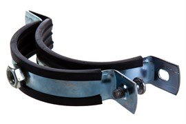 Хомут сантехнический трубный, 2 1/2дюйма, диапазон зажима 74-80мм, из нержавеющей стали