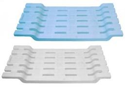 Полка/сиденье в ванну Idea М2586, 70x300x680мм, пластиковый, голубой/белый