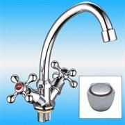 Смеситель для кухни LEDEME L4009, двухвентильный, на шпильку, керамика, силумин, хром