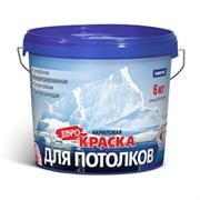 Краска FARBITEX вододисперсионная, акриловая, для потолков, матовая, белая, 1.1кг