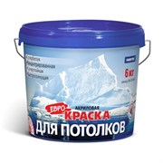 Краска FARBITEX вододисперсионная, акриловая, для потолков, матовая, белая, 6кг
