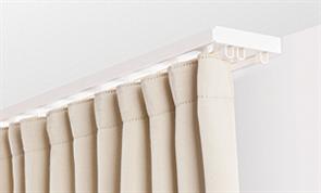 Карниз ПВХ д/штор (2-х рядный) белый 1,6м